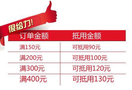 乐淘网满150减90、满200减100、满300减120、满400减130优惠券 5元